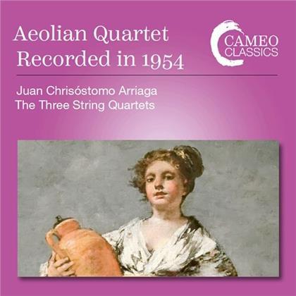 Aeolian Quartet & Juan Crisostomo de Arriaga (1806-1826) - The Three String Quartets - Recorded in 1954