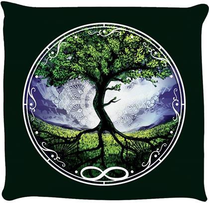 Spiritual Tree Of Life Dark Green Cushion