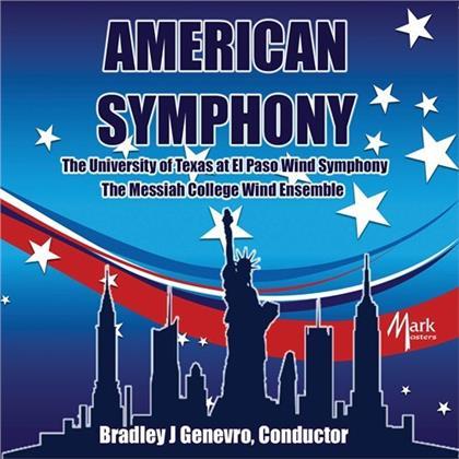 Morton Gould Hall, Robert Jager, Joseph Willcox Jenins, Bradley J. Genevro, The University Of Texas at El Paso Wind Sympony, … - American Symphony