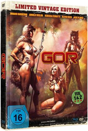 Gor - Teil 1 & 2 (Limited Vintage Edition, Mediabook, Uncut, Blu-ray + DVD)