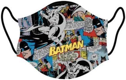 Mundschutzmaske Batman Comic - Für Kids von ca. 6 -13 Jahren