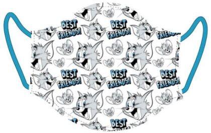 Mundschutzmaske (Blau) Tom & Jerry - Für Kids von ca. 6 -13 Jahren