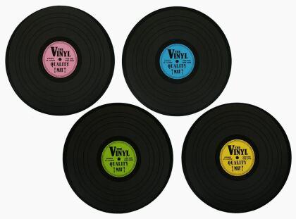 Schallplatten Tischset - 4 Stück