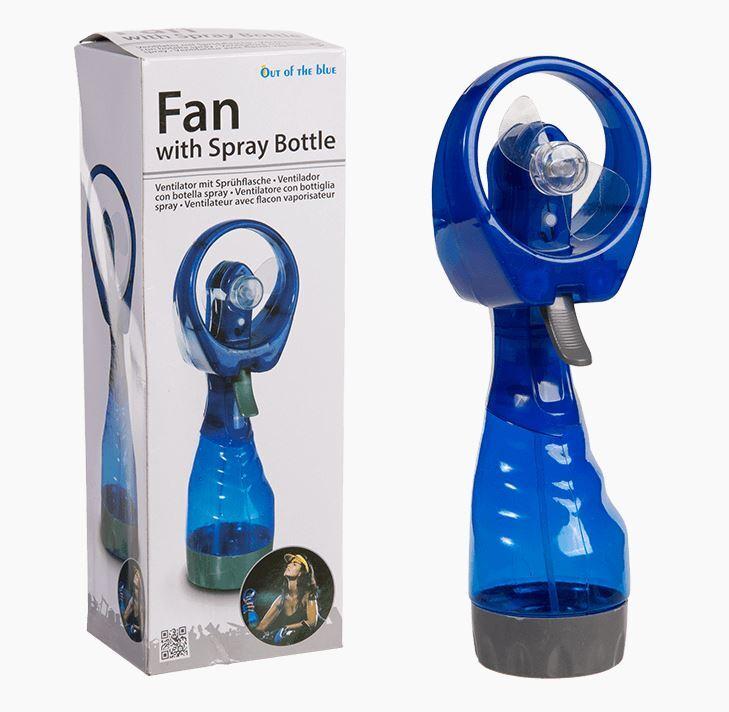 Hand-Ventilator mit Sprühflasche