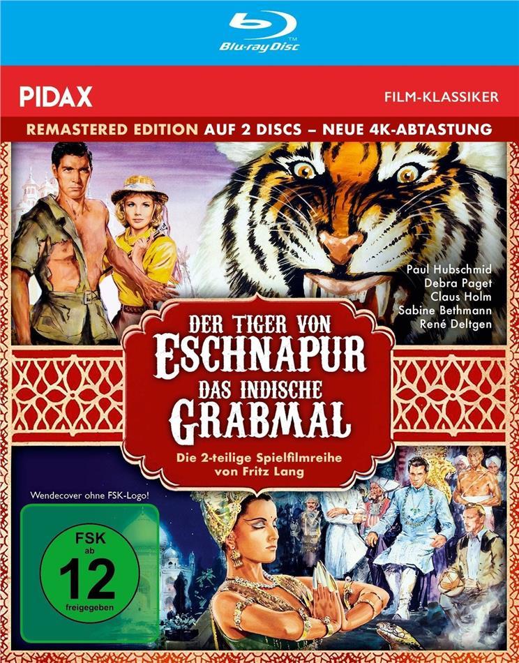 Der Tiger von Eschnapur / Das indische Grabmal (1959) (Pidax Film-Klassiker, Remastered, 2 Blu-rays)