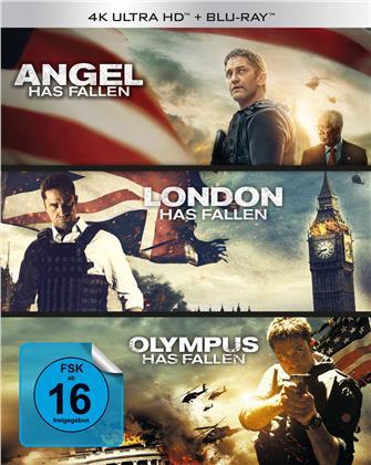Olympus Has Fallen / London Has Fallen / Angel Has Fallen - Triple Film Collection (3 4K Ultra HDs + 3 Blu-rays)