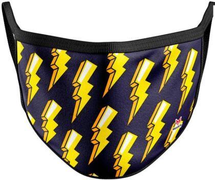 Mundschutzmaske Blitze - Für Kids von ca. 6 -13 Jahren