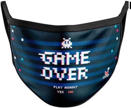 Mundschutzmaske Game Over - Für Kids von ca. 6 -13 Jahren
