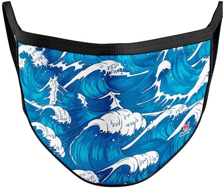 Mundschutzmaske Tsunami - Für Erwachsene