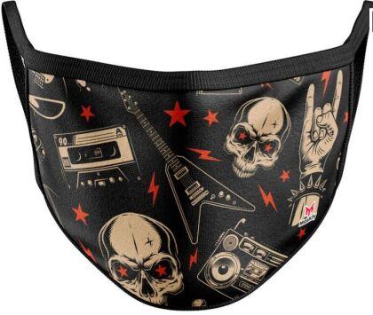 Mundschutzmaske Rock Music - Für Kids von ca. 6 -13 Jahren