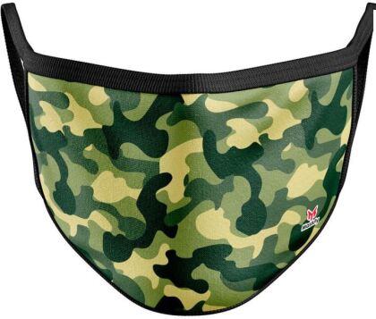Mundschutzmaske Camouflage Grün - Für Erwachsene