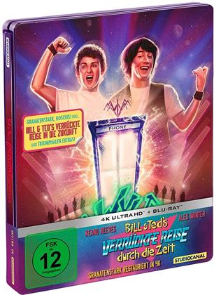 Bill & Teds verrückte Reise durch die Zeit / Bill & Teds verrückte Reise in die Zukunft (Limited Edition, Steelbook, 4K Ultra HD + 2 Blu-rays)