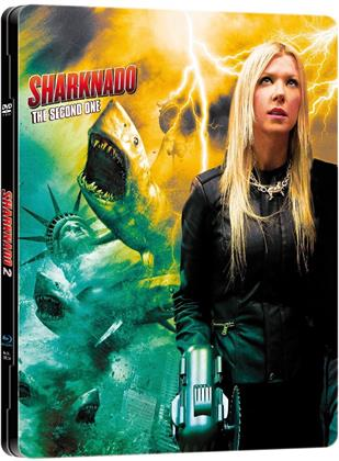 Sharknado 2 (2014) (Limited Edition, Steelbook, Uncut, Blu-ray + DVD)
