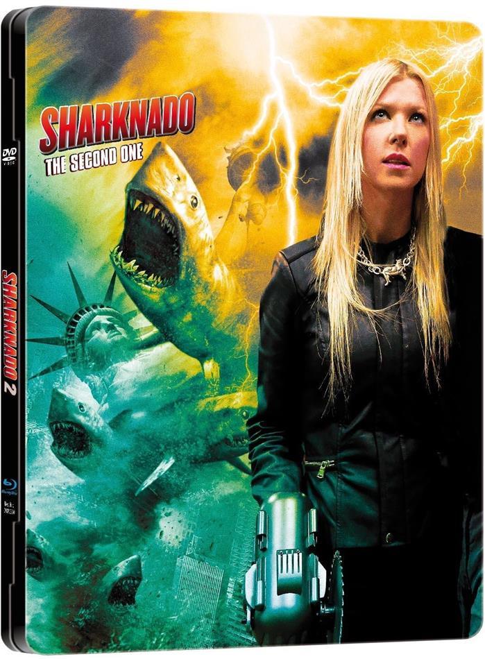 Sharknado 2 (2014) (Limited Edition, Steelbook, Uncut, Blu-ray + DVD)