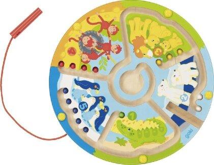 Magnetlabyrinth Zählen Lernen im Zoo