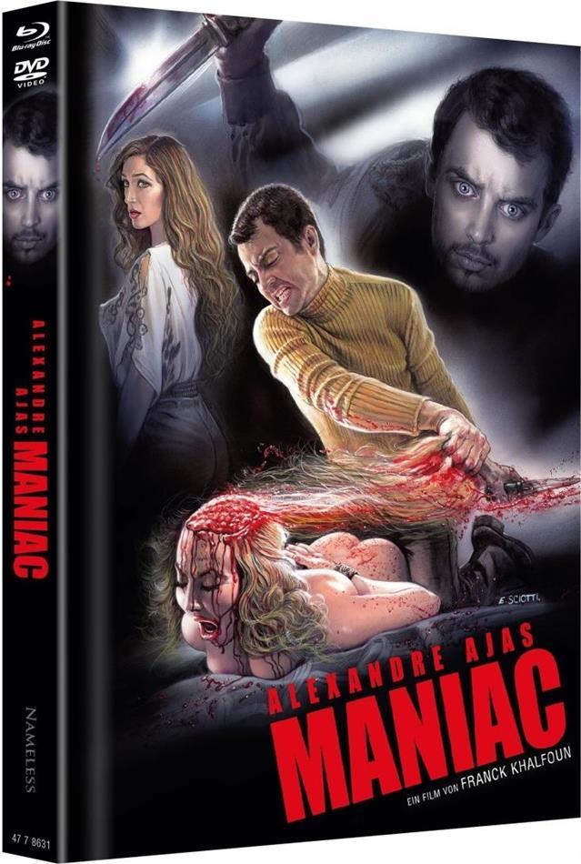 Maniac (2012) (Cover C, Limited Edition, Mediabook, Uncut, 4K Ultra HD + 2 Blu-rays + 2 DVDs + CD)