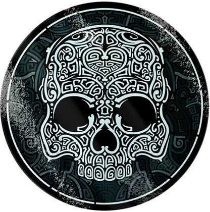 Unorthodox Collective: Graphic Skull - Glass Chopping Board
