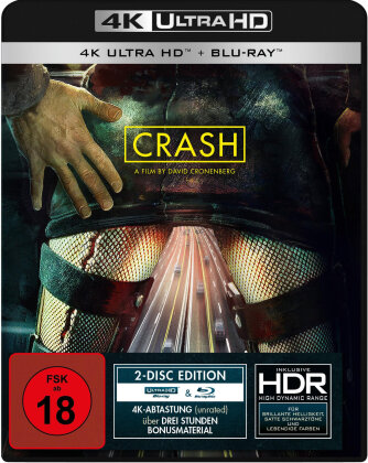 Crash (1996) (4K Ultra HD + Blu-ray)