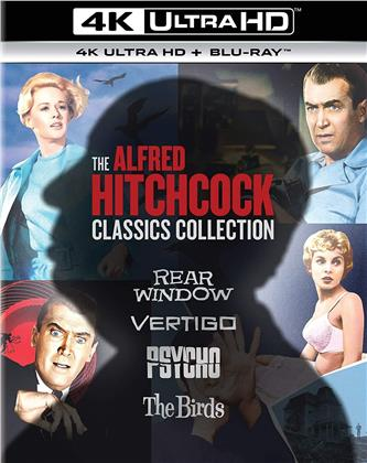 The Alfred Hitchcock Classics Collection - Rear Window / Vertigo / Psycho / The Birds (4 4K Ultra HDs + 4 Blu-rays)