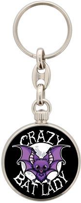 Crazy Bat Lady - Keyring