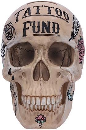 Natural Bone Coloured Trafitional Tribal Tattoo Fund Skull