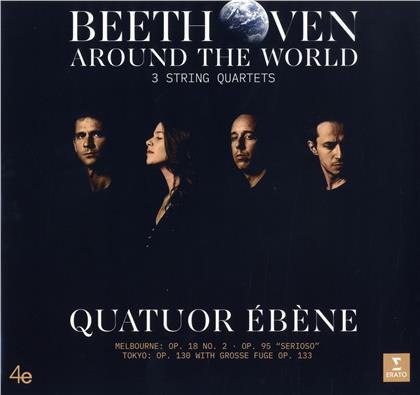 Quatuor Ébène & Ludwig van Beethoven (1770-1827) - Beethoven Around The Worl - Vienna - Op. 59 Nos 1 & 2 (2 LPs)