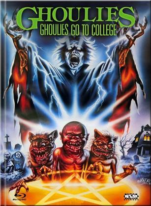 Ghoulies 3 - Ghoulies Go to College (1990) (Cover B, Limited Collector's Edition, Mediabook, Blu-ray + DVD)
