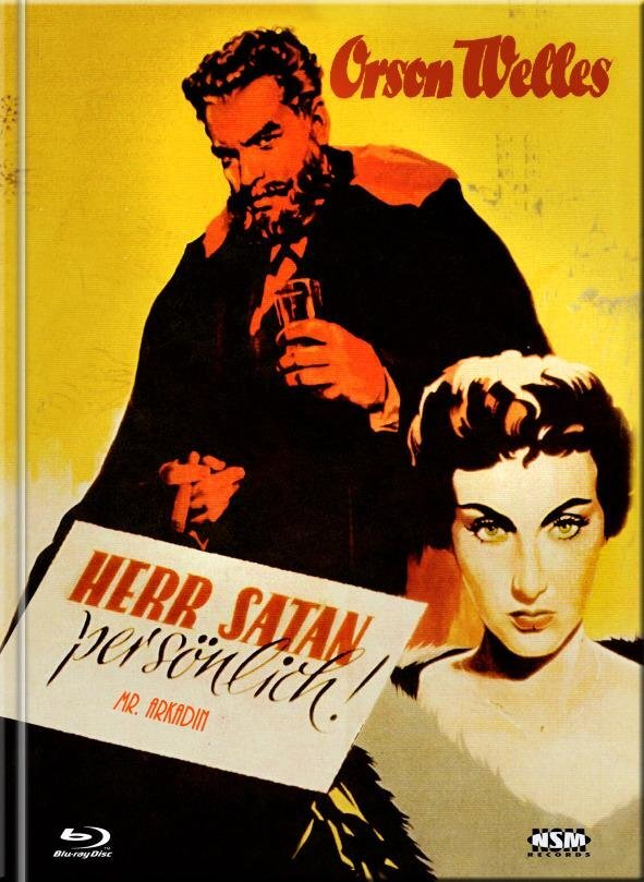 Herr Satan persönlich - Mr. Arkadin (1955) (Cover E, s/w, Limited Collector's Edition, Mediabook, Blu-ray + DVD)