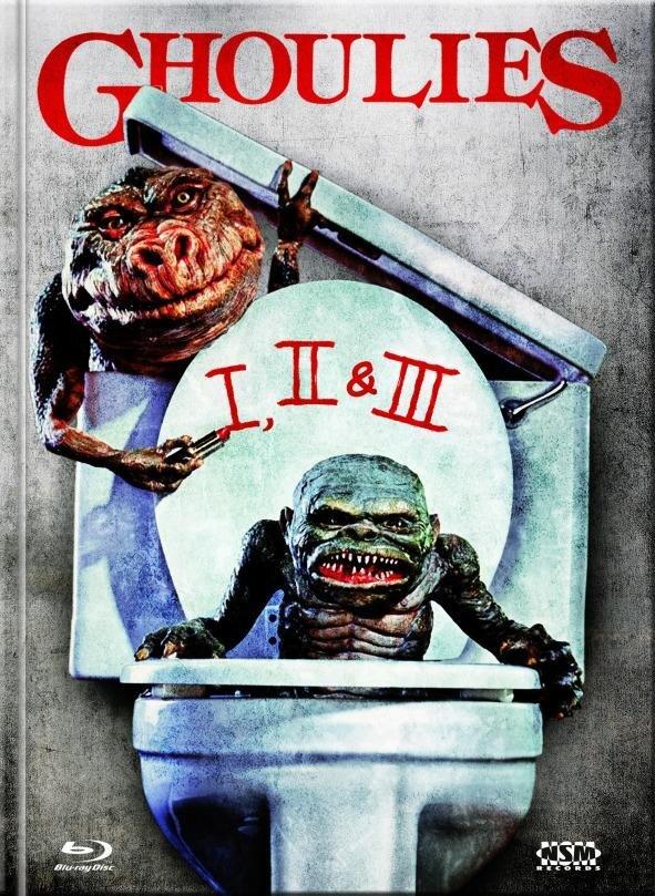 Ghoulies 1-3 (Limited Edition, Mediabook, Uncut, 3 Blu-rays)