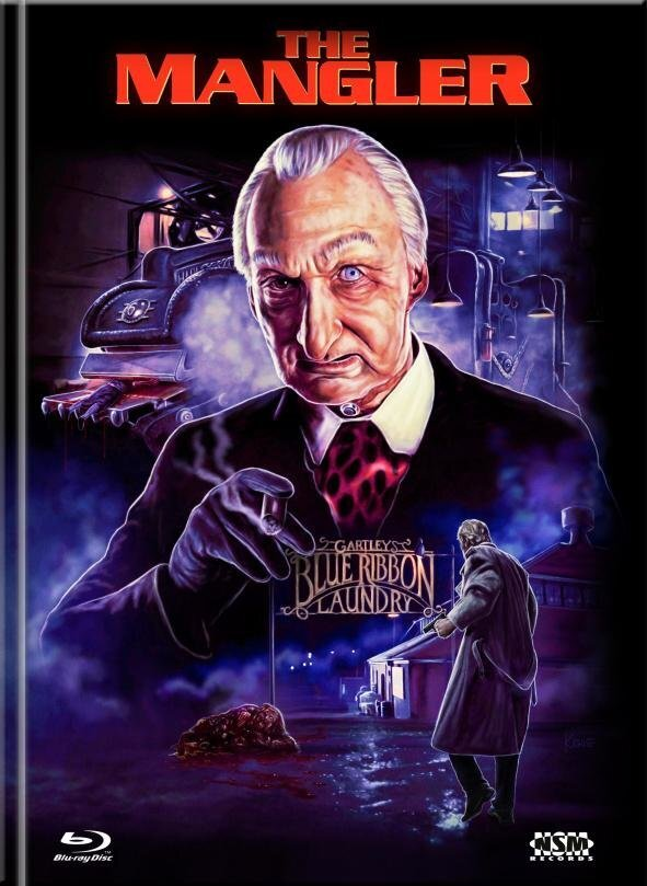 The Mangler (1995) (Cover E, Limited Collector's Edition, Mediabook, Unrated, Blu-ray + DVD)