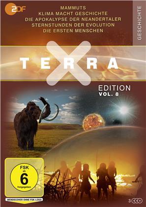 Terra X - Vol. 8: Stars der Eiszeit / Klima macht Geschichte / Die Apokalypse der Neandertaler / Sternstunden der Evolution / Die ersten Menschen (3 DVDs)