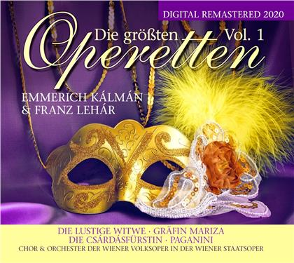 Franz Lehar (1870-1948) & Emmerich Kálmán (1882-1953) - Die Größten Operetten Vol. 1 (2 CDs)