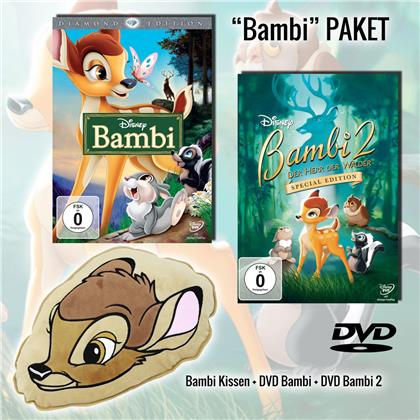 Bambi 1 & 2 - Inkl. Bambi Plüschkissen (Limited Edition)