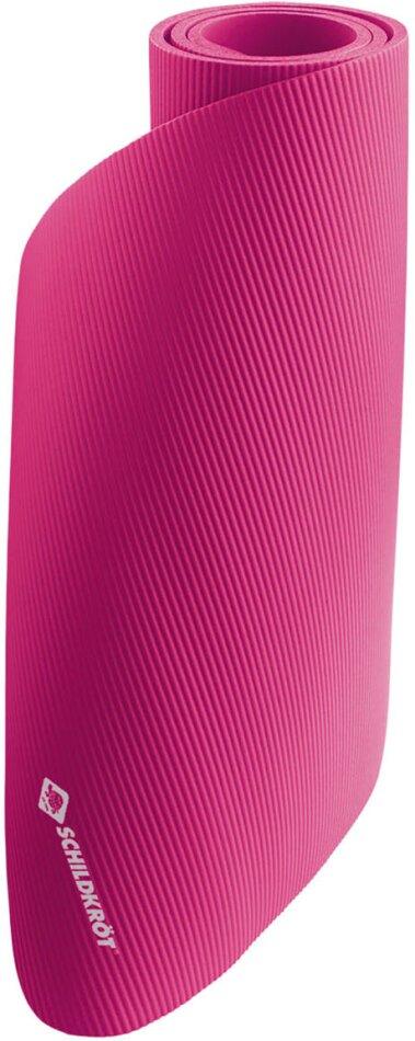 Fitnessmatte 10 mm pink - 180x61 cm, gute Dämpfung,