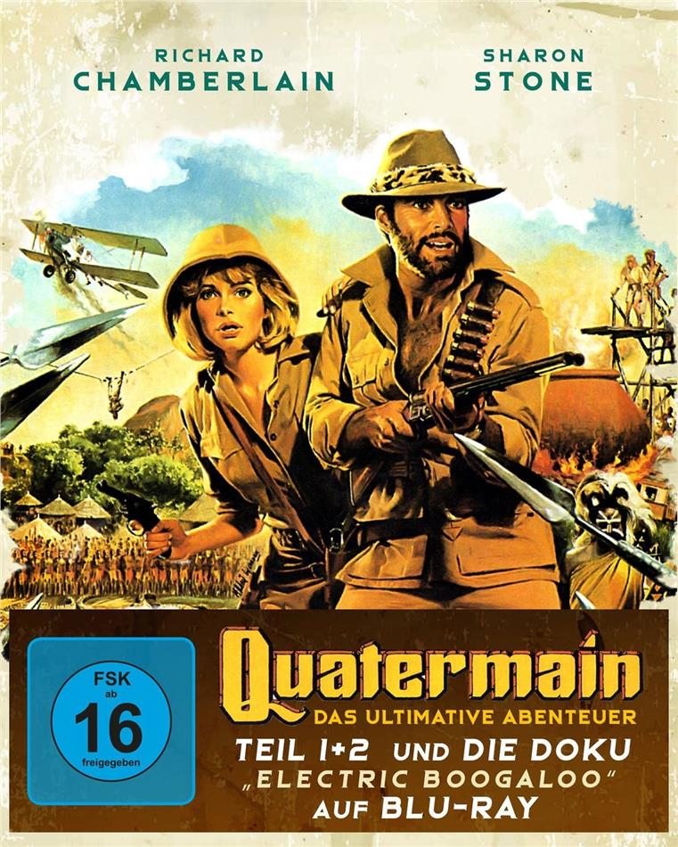 "Quatermain - Das ultimative Abenteuer - Teil 1 + 2 und die Doku ""Electric Boogaloo"" (Digipack, 3 Blu-rays)"