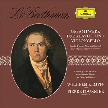 Ludwig van Beethoven (1770-1827), Pierre Fournier & Wilhelm Kempff - Gesamtwerk Für Klavier und Cello (UHQCD, Limited, Japan Edition, Remastered)