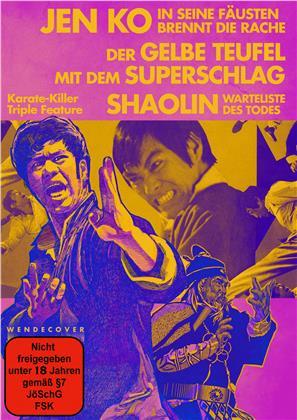 Karate - Killer Triple Feature - Jen Ko - In seinen Fäusten brennt die Rache / Der gelbe Teufel mit dem Superschlag / Shaolin - Warteliste des Todes (Limited Edition, Uncut, 3 DVDs)