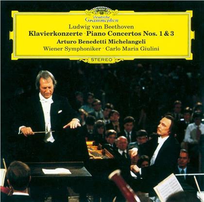 Ludwig van Beethoven (1770-1827), Carlo Maria Giulini, Arturo Benedetti Michelangeli & Wiener Symphoniker - Piano Concertos 1 & 3 (UHQCD, Limited, Japan Edition)