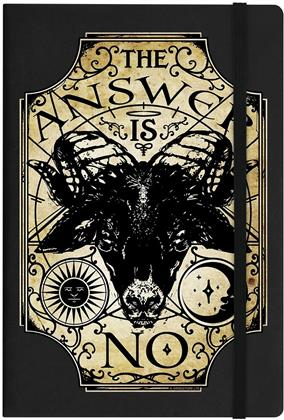 Ouija The Answer Is No Black A5 Hard Cover Notebook