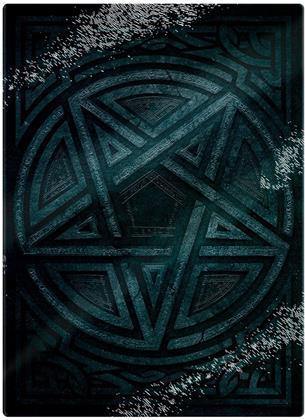 Gothic Pentagram Glass Chopping Board