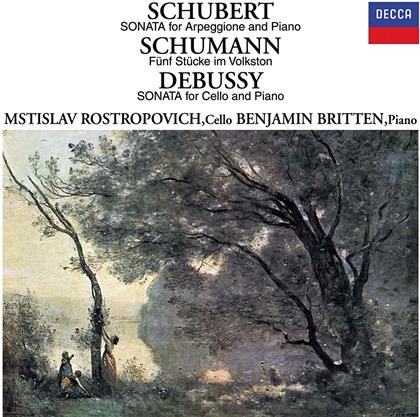 Franz Schubert (1797-1828), Robert Schumann (1810-1856), Claude Debussy (1862-1918), Mstislav Rostropovitsch & Benjamin Britten (1913-1976) - Schubert: Arpeggione Sonata / Debussy: Cello Sonata - Fünf Stücke im Volkston, Sonata For Cello And Piano (Limited, 24 Bit Remastered, UHQCD, Japan Edition)