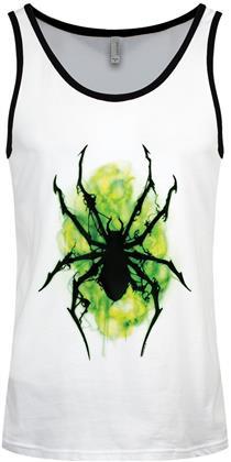 Neon Spider - Men's White & Black Ringer Vest