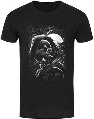 Skull Moon Ouija - Men's Heather Black Denim T-Shirt