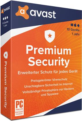 AVAST Premium Security 2020 (10 Geräte I 1 Jahr) ( Windows I MAC I Android)