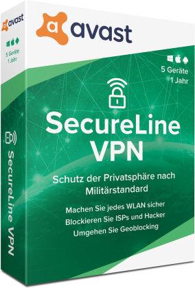 AVAST SecureLine VPN 2020 (5 Geräte I 1 Jahr)