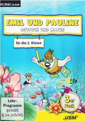 Emil und Pauline - Deutsch u. Mathe f.d.2.Kl. - Emil und Pauline 3 in 1 Bundle - Deutsch und Mathe für die 2. Klasse (PC+Mac)