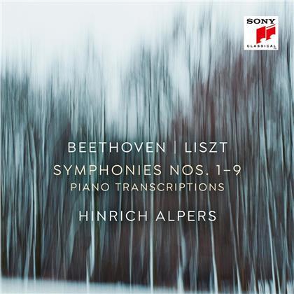 Hinrich Alpers, Ludwig van Beethoven (1770-1827) & Franz Liszt (1811-1886) - Sinfonien (transkr.f.Klavier) (6 CDs)