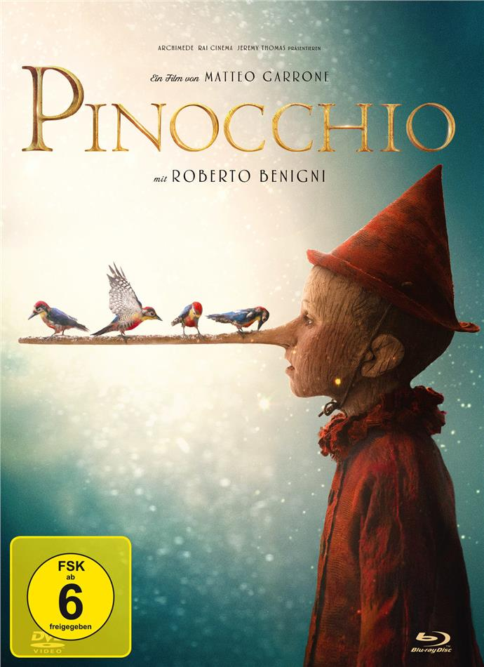 Pinocchio (2019) (Limited Collector's Edition, Mediabook, Blu-ray + DVD)