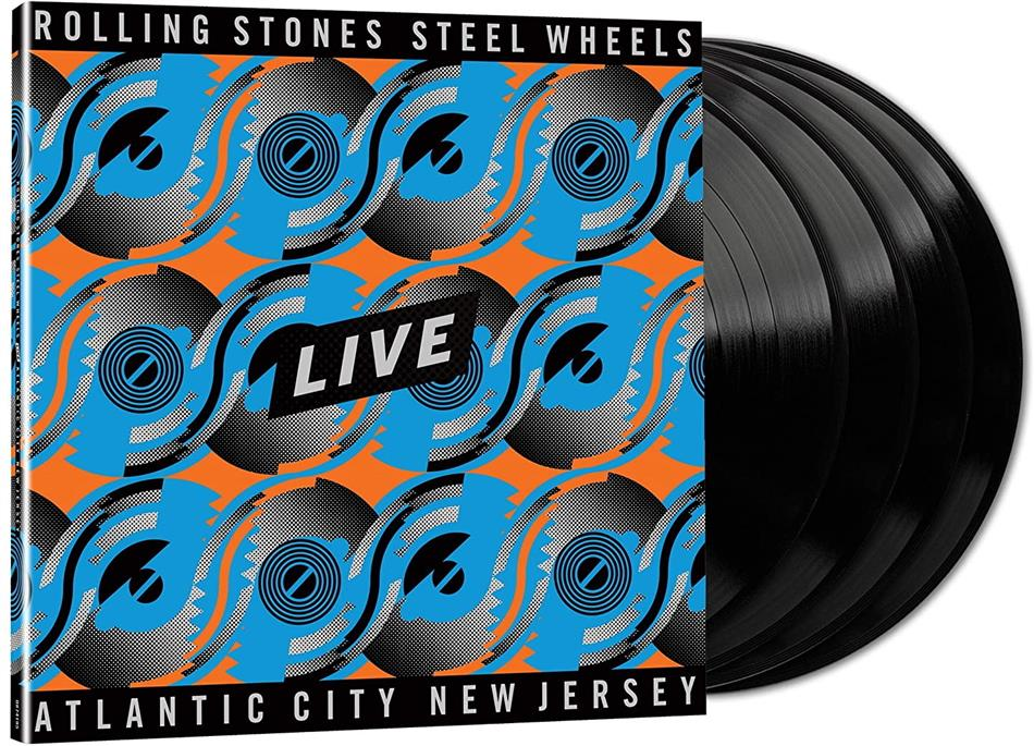 The Rolling Stones - Steel Wheels Live (Atlantic City 1989) (Black Vinyl, 4 LPs)