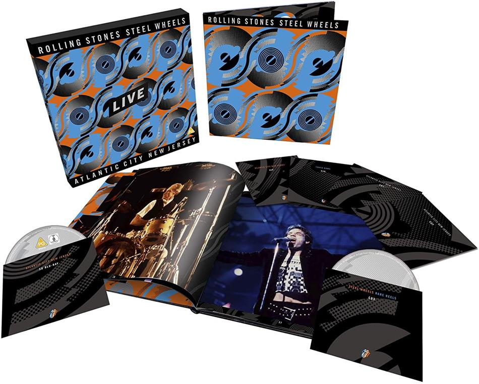 The Rolling Stones - Steel Wheels Live (Atlantic City 1989) (Limited, Deluxe Edition, 3 CD + Blu-ray + 2 DVD)